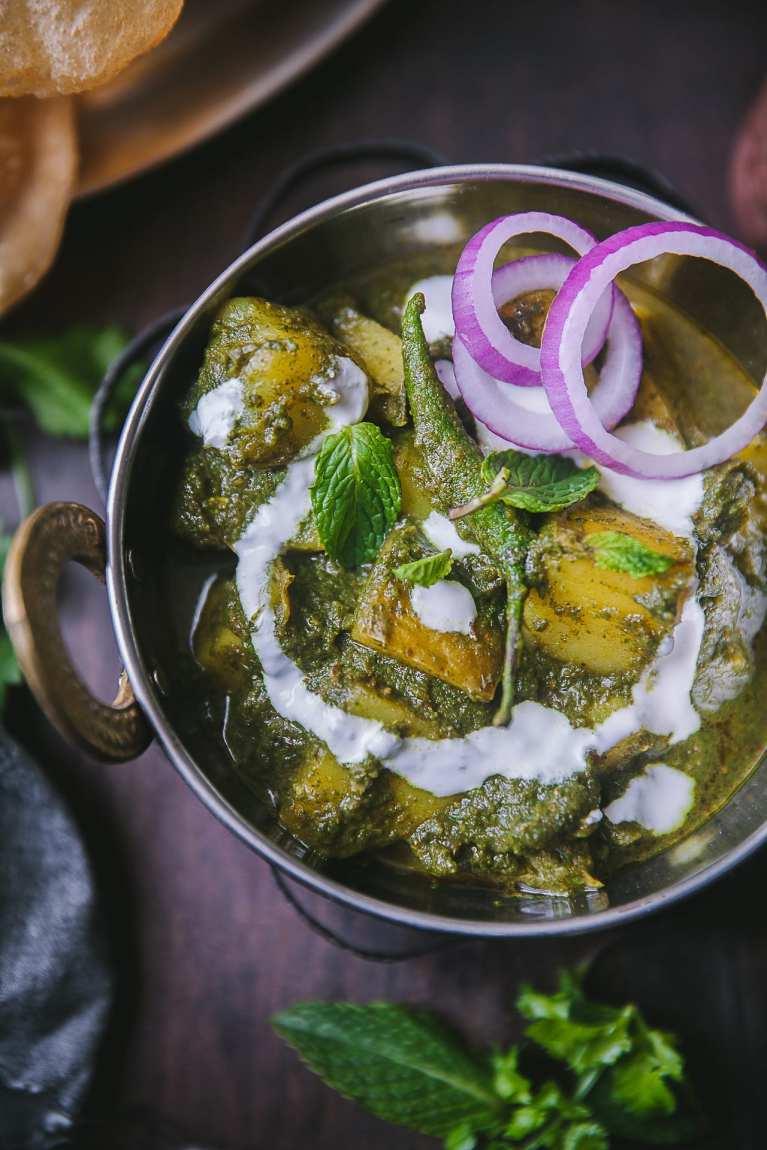 Pudina Aloo ( Potato Mint Curry) 2