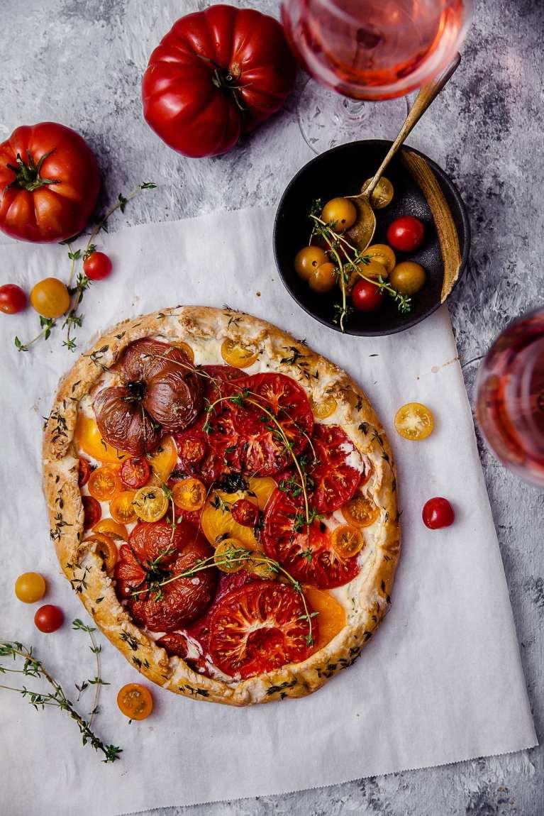 Tomato Thyme Ricotta Galette 8