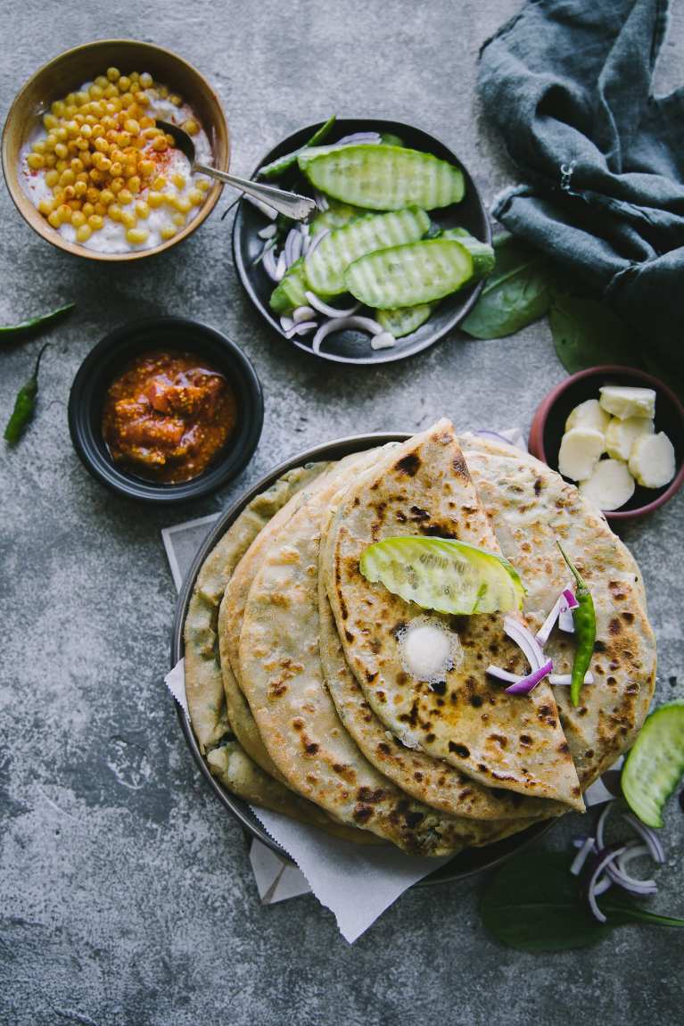 Aloo Palak Paratha | Playful Cooking #paratha #potato #bread #foodphotography #indianfood #photography