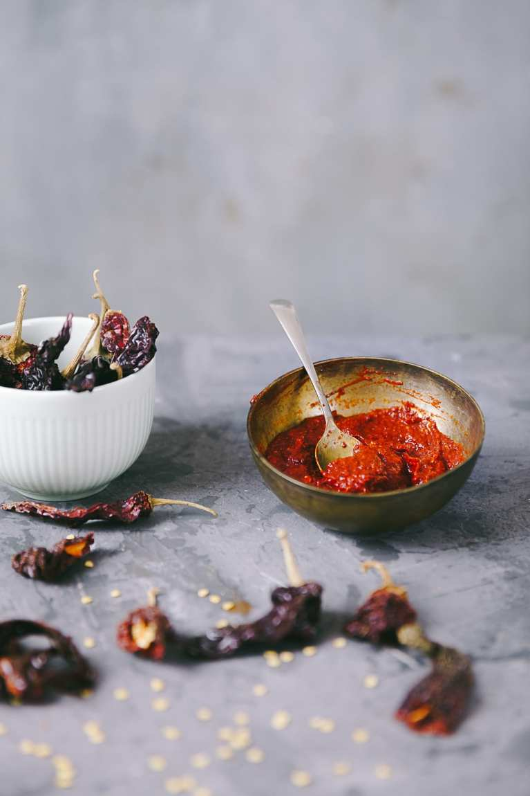 Red Chili Paste - Playful Cooking #chilipaste #foodphotography #kashmiriredchili #foodstyling