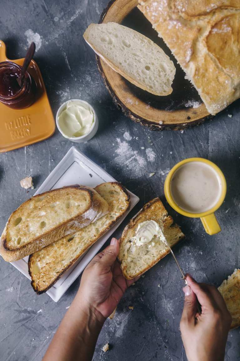 spread butter | Playful Cooking #bread #baking #food-photography #noknead