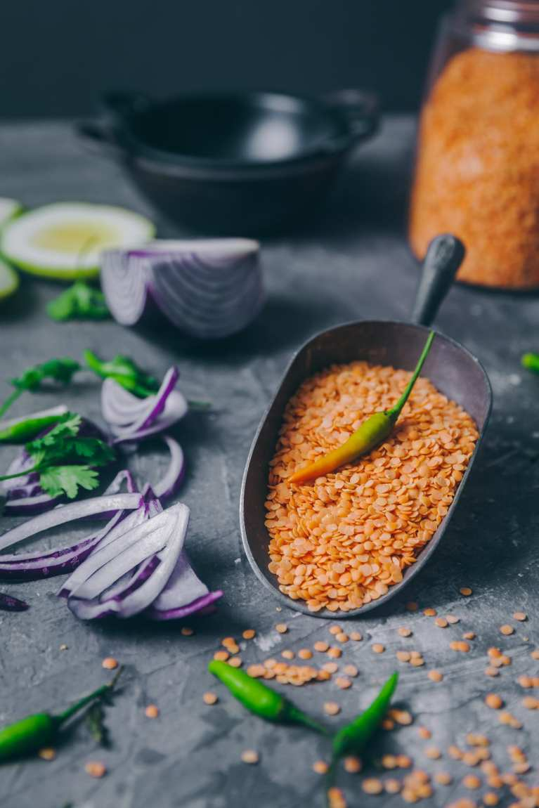 Split Red Lentil Photography. #foodphotography #lentils #masoordal #redlentil #indianrecipe #dalphotography