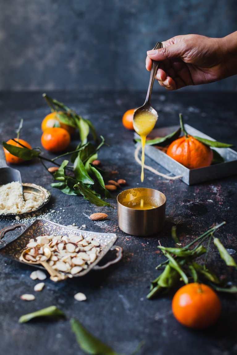 Santra Badam Barfi (Orange Almond Fudge) 7