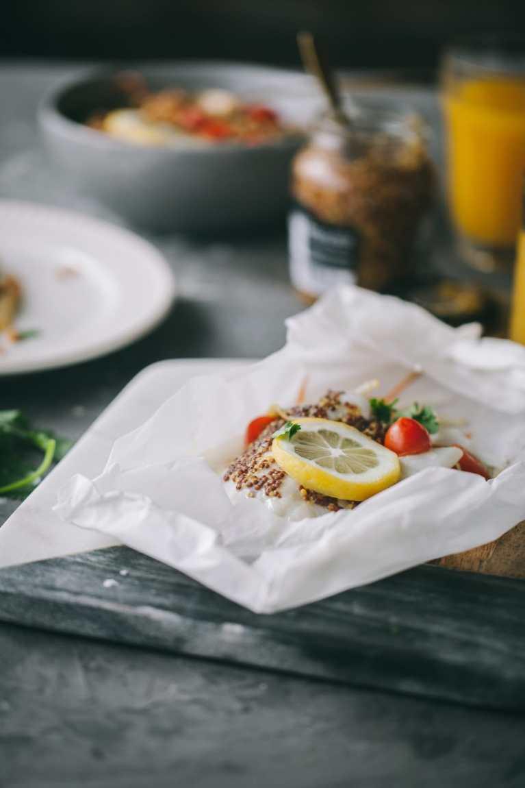 Tilapia En Papillote #fish #seafood #tilapia #baked #healthymeal