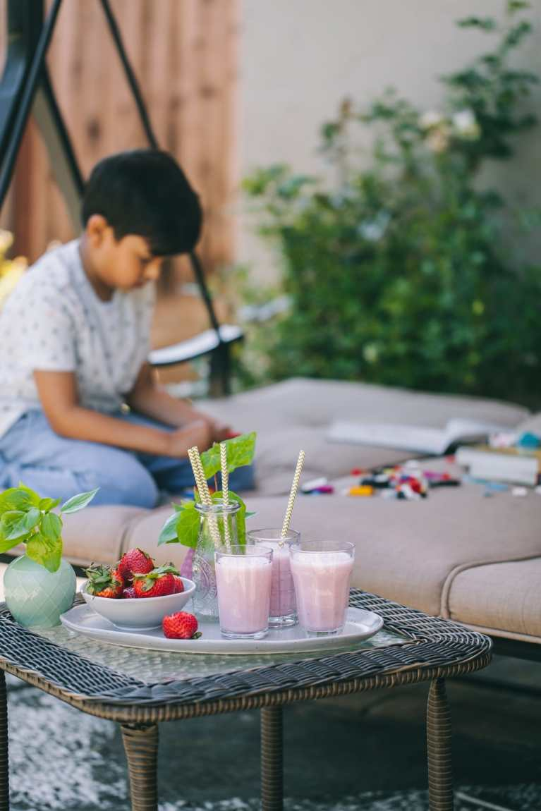 strawberry lassi - Immune boosting drinks | Playful Cooking #strawberry #lassi #drinks #beverage #yogurt #healthy
