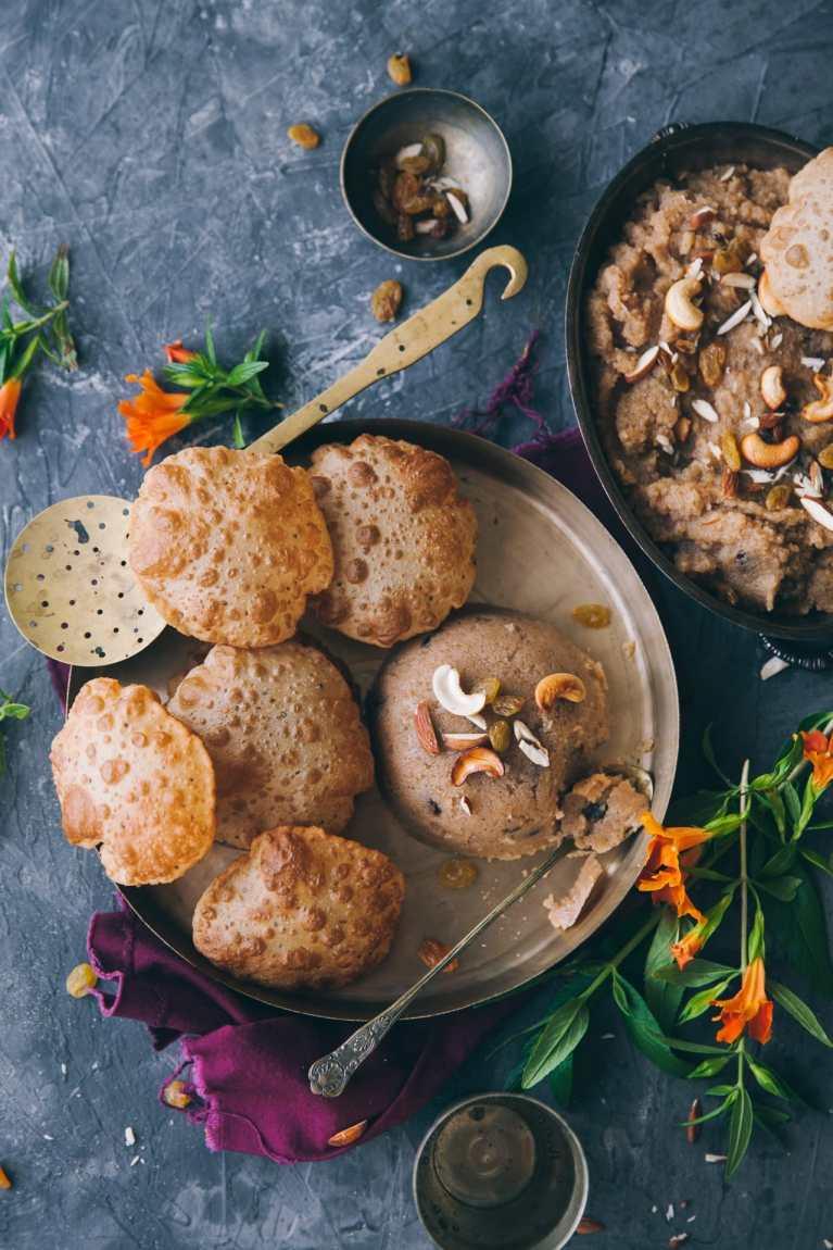 Semolina Pudding | #sooji #semolina #indiandessert #festivefood #pudding #foodphotography #foodstyling