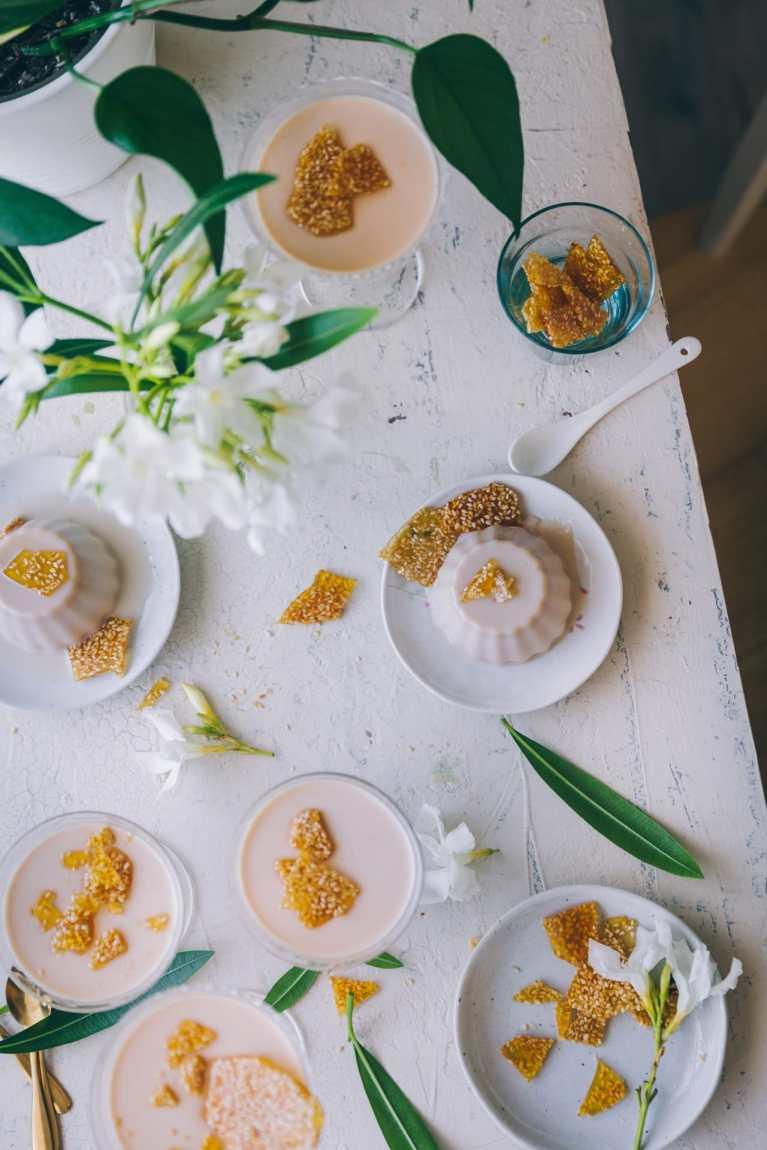Salted Caramel Panna Cotta | Playful Cooking #caramel #pannacotta #eggless #foodphotography #foodstyling #dessert