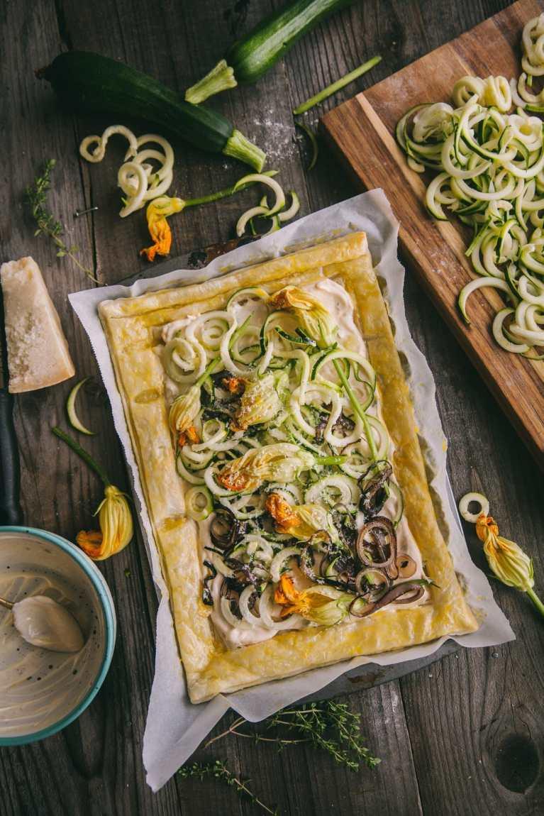 Brunch Recipe #puffpastry #tart #zucchinitart #foodphotography #foodstyling