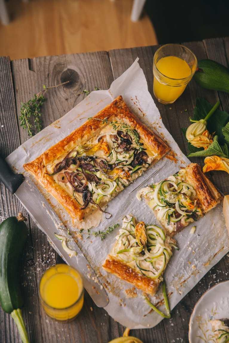 Zucchini Tart | Playful Cooking #puffpastry #tart #zucchinitart #foodphotography #foodstyling