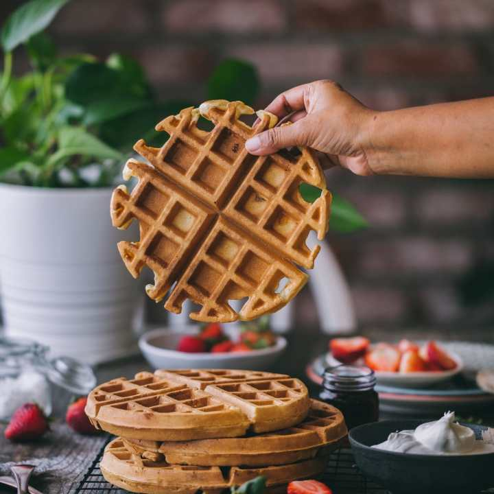 Perfectly circle belgian waffle