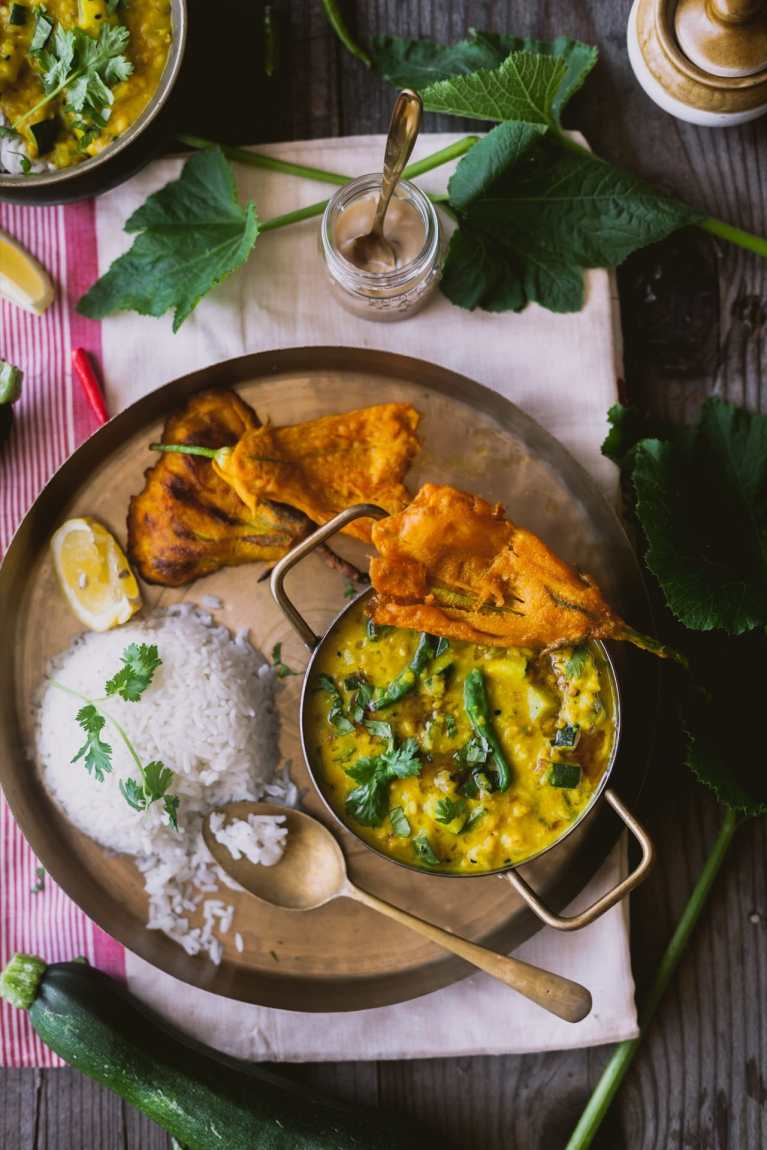 Zucchini Moong Dal | #zucchini #lentil #dal #moongdal #easymeal #indianmeal #foodphotography