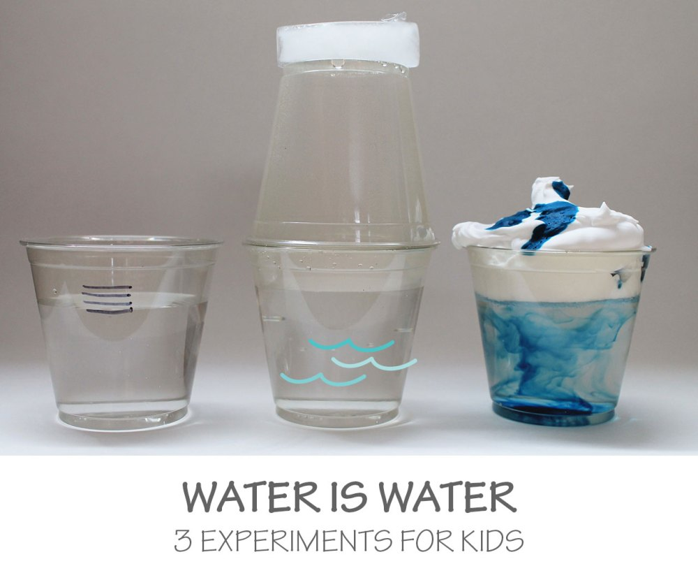 medium resolution of water is water 3 experiments for kids