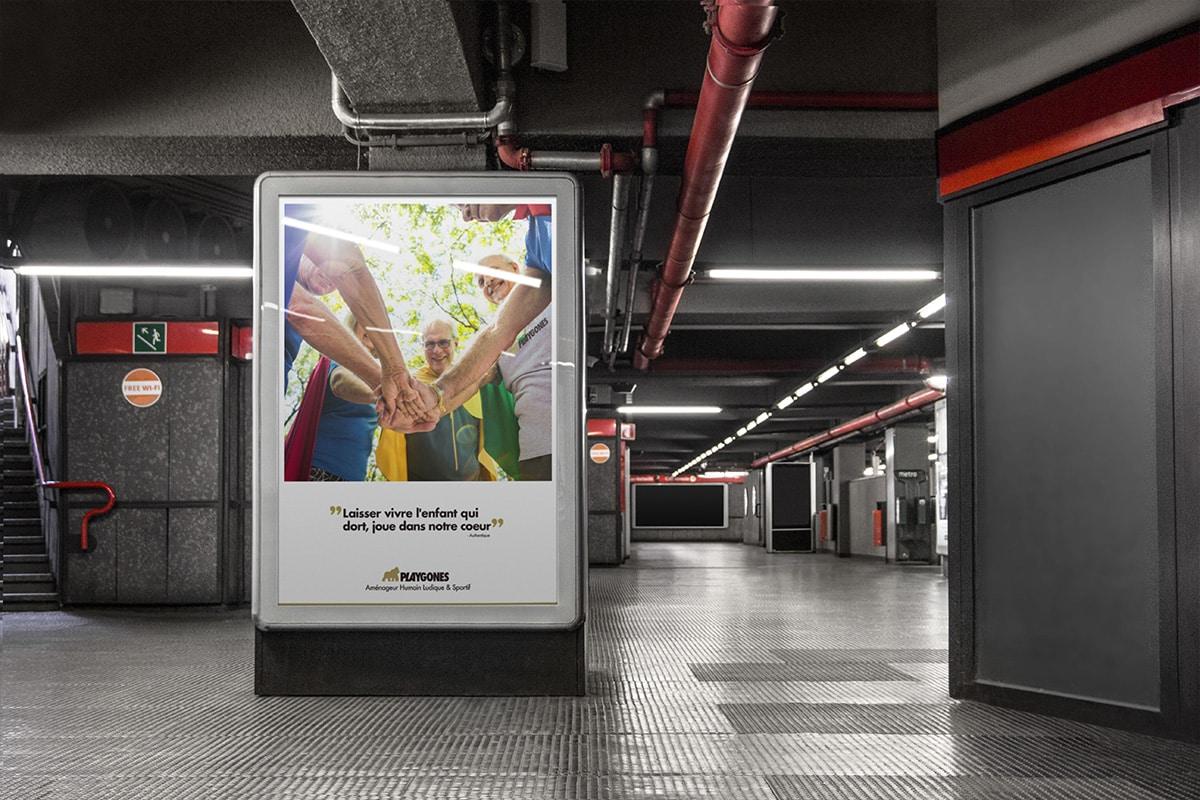 Laisser vivre l'enfant qui dort, joue dans notre coeur - Campagne promo LudiSeniors