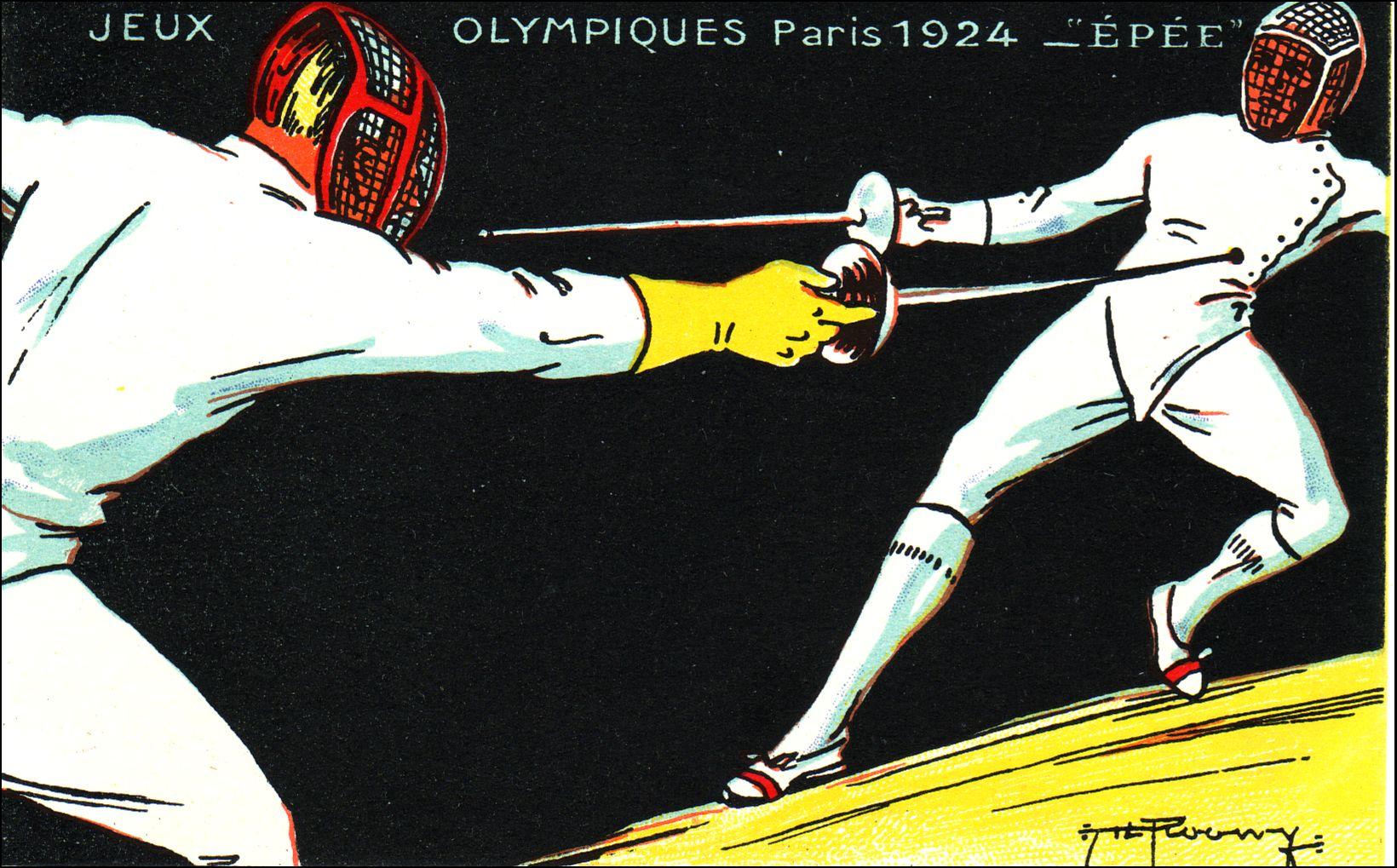 Le Français Roger Ducret s'impose à l'épée par équipe face à l'équipe Belge.