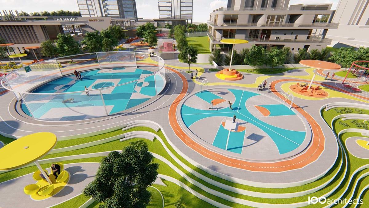 Projection-design-actif-Doodle-park