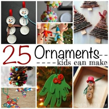 25 Christmas Ornaments Kids Can Make