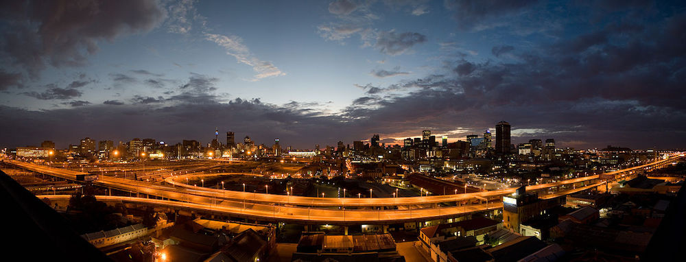 Sunrise skyline of Johannesburg