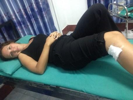 Une infection à la jambe au Laos