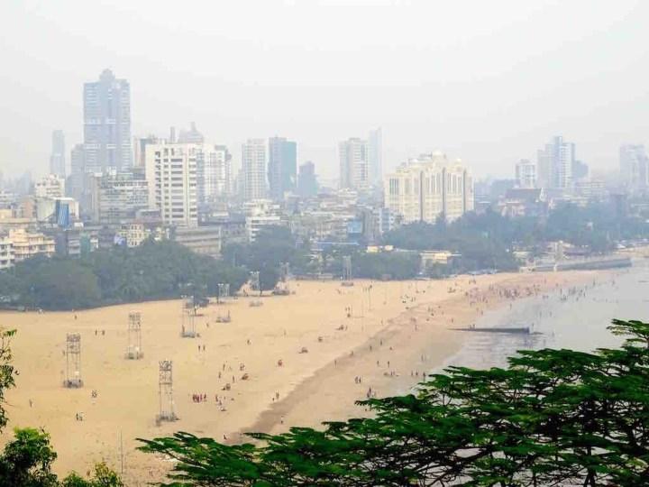 Photo de Chowpati beach a Mumbai en Inde