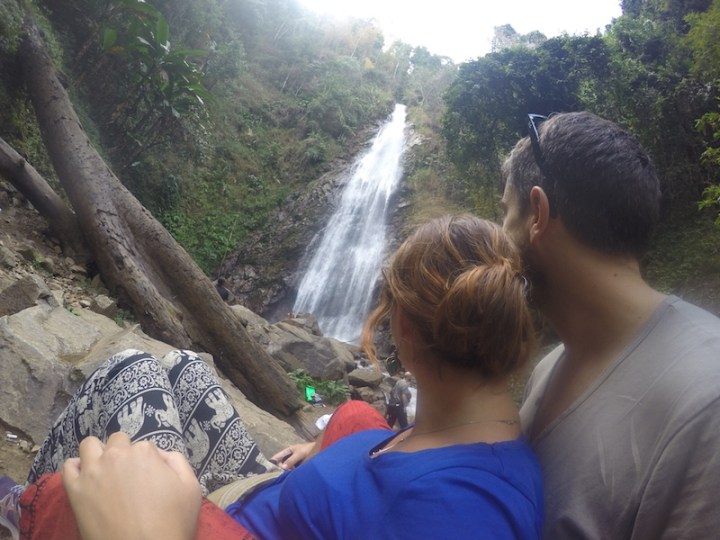 Khun Korn waterfall a cote de chiang rai en thailande