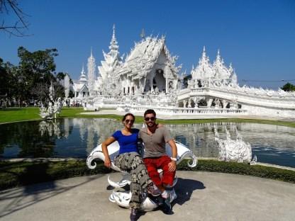 Le temple blanc a chiang rai en thailande