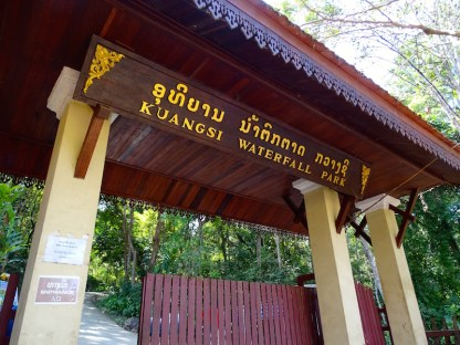 Les chutes d eau de kuangsi waterfall a luang prabang au laos