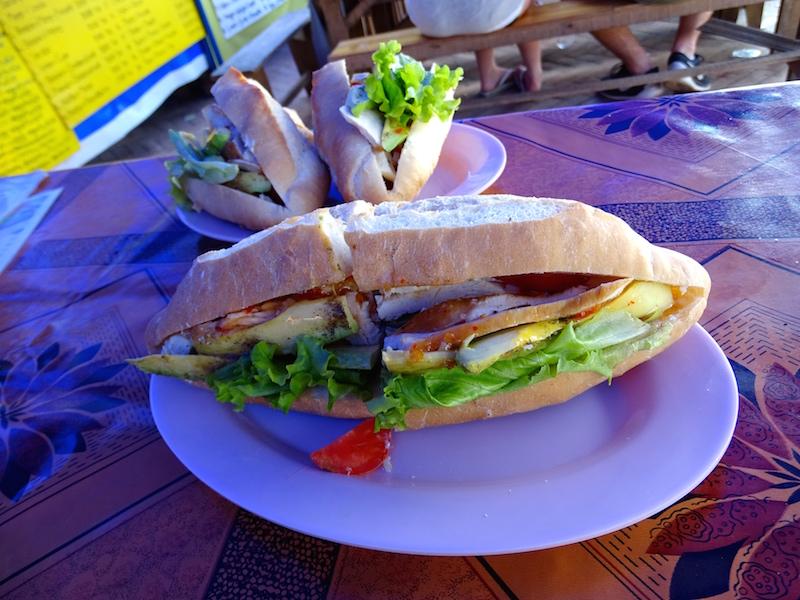 Un sandwich a luang rpprabang au laos