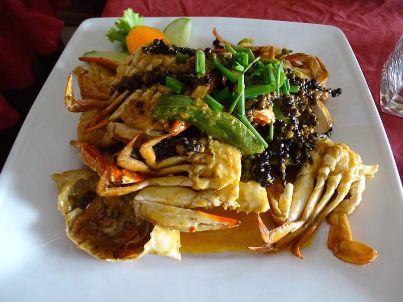 Un crabe de kep aupoivre de kampot, recette du cambodge