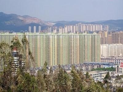 Kunming vu depuis le temple sur la colline.