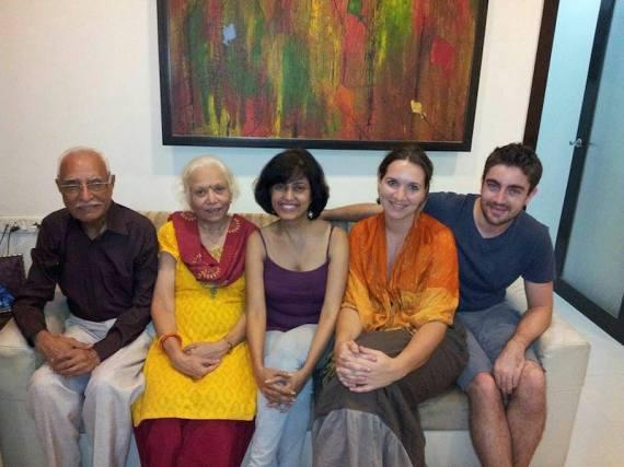 Geeta et ses parents, Mumbai, Inde