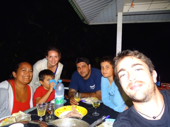 A Moorea avec Mado et sa famille