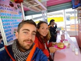 Dans le marché de La Paz