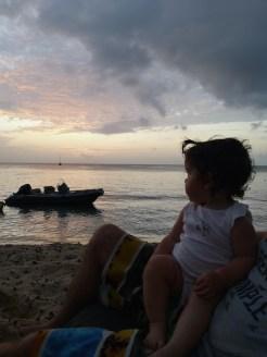 Coucher du soleil sur la plage du souffleur