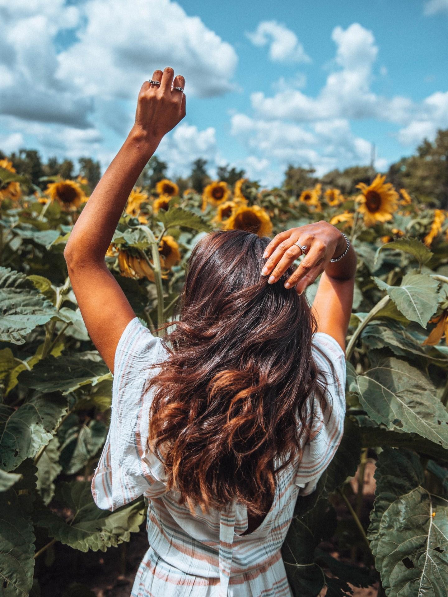 Filipa in Sunflower Field