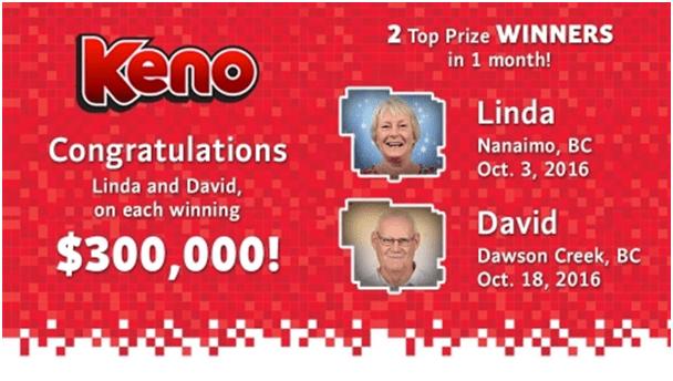 Keno BCLC Prizes