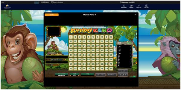 Play online keno Canada