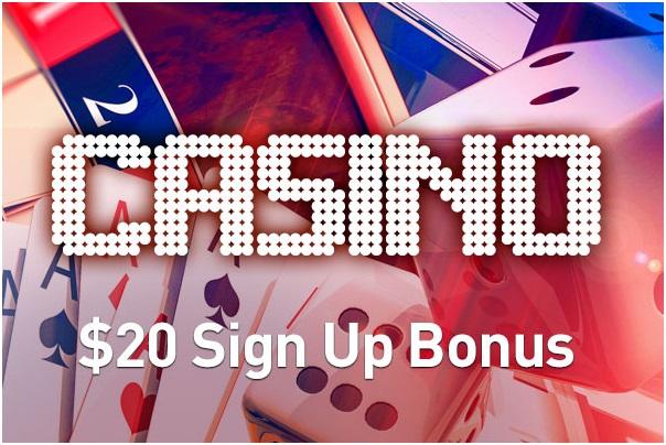 $20 sign up bonus as no deposit