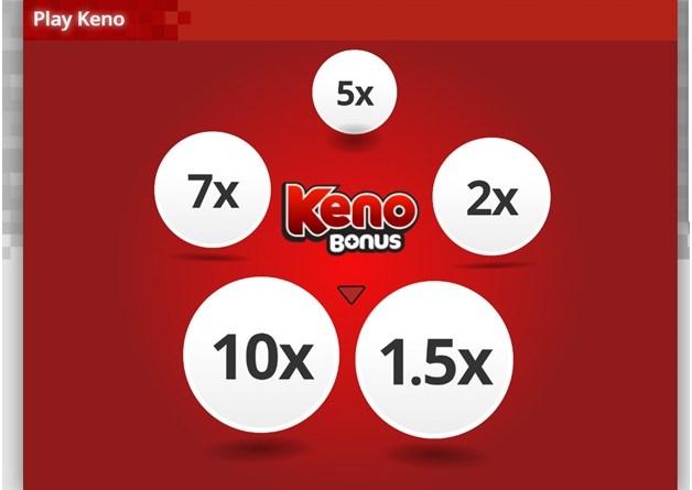 Keno games at Play Now Canada