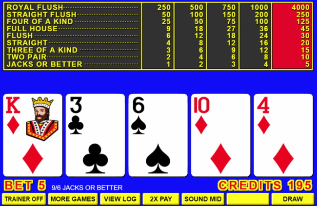Strategy for Winning at Video Poker