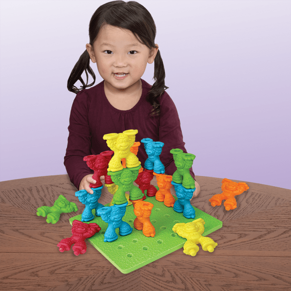 Tall-stackers Mighty Monkey Pegs & Pegboard Set Playmonster