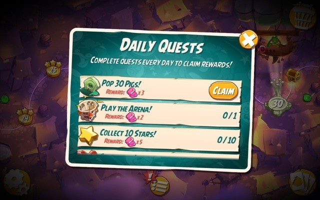 Complete daily quests