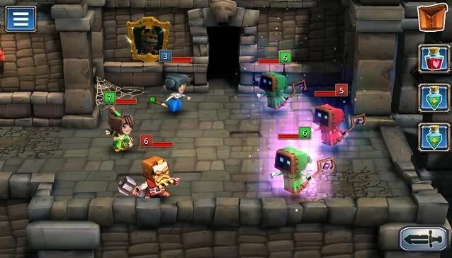 Dungeon Boss Battle Screen