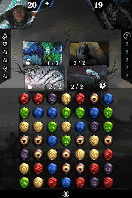 Magic the Gathering Puzzle Quest Battle Screen