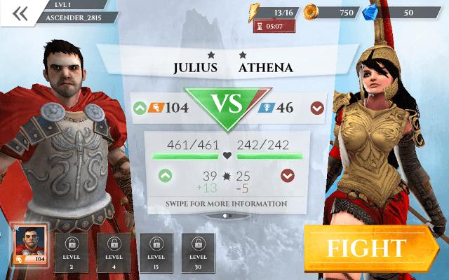 Gods of Rome Versus Screen