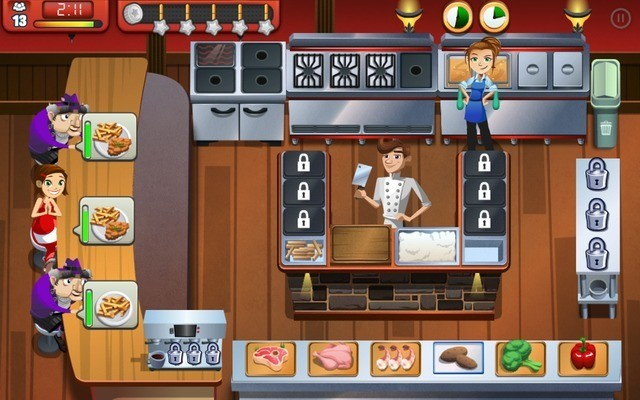 Serve customers quickly in Cooking Dash