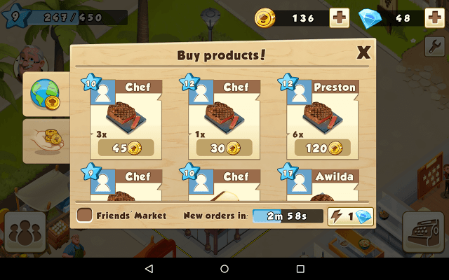 Buy and Sell products at the Market