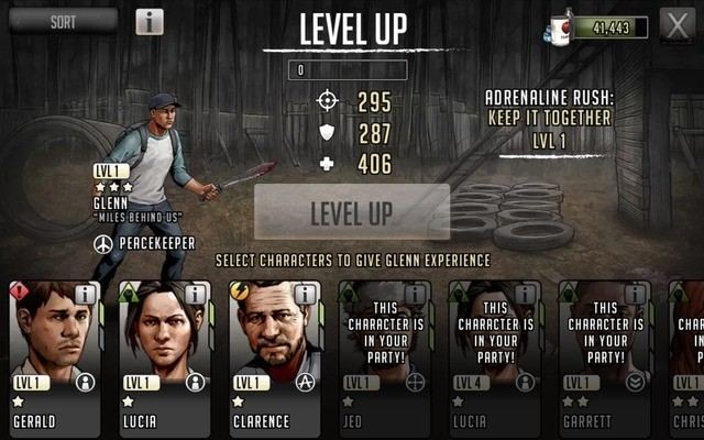 Level up characters