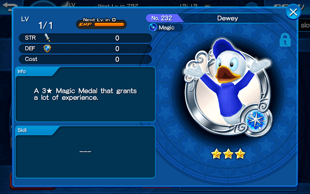 A Donald Duck Medal in Kingdom Hearts Union X