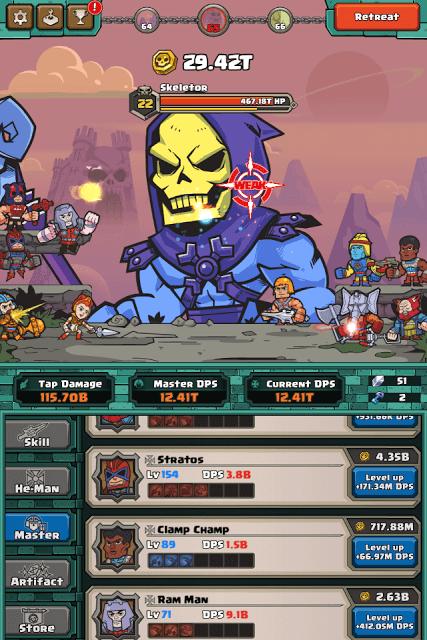 He-Man Tappers of GraySkull - Fighting Skeletor