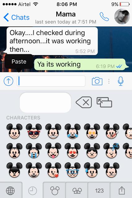 Disney Emoji Blitz Keyboard